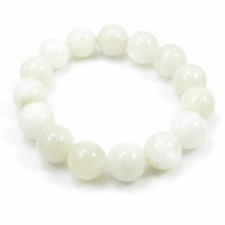 31488 ELASTIC MOONSTONE 13.5 - 14 MM HIGH QUALITY BRACELET