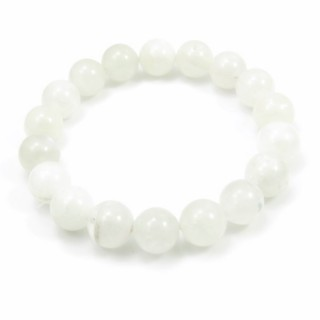 31493 ELASTIC MOONSTONE 11 - 11.5 MM HIGH QUALITY BRACELET