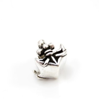32326 STERLING SOLID SILVER BRACELET CHARM 11 X 11 MM