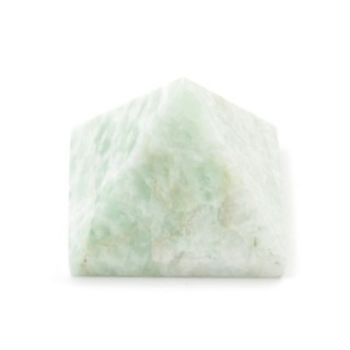 32257-03 AMAZONITE NATURAL STONE PYRAMID WITH 2 TO 3 CM BASE