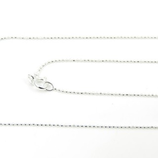39052 CP 100 D 45 CMS STERLING SILVER CHAIN