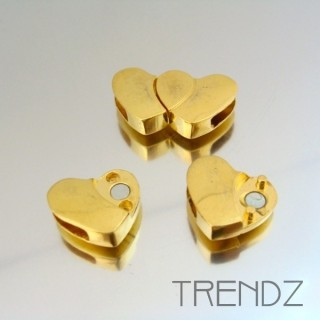 17877 ORO PACK OF 4 HEART SHAPED MAGNETIC CLASPS