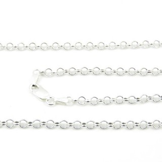 39248 ROLO 3 VUOTA 50 CMS STERLING SILVER CHAIN