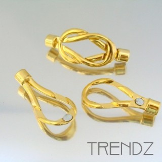 17885 PACK OF 5 GOLDEN MAGNETIC BRACLET CLASPS