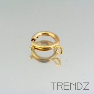17605 ORO PACK OF 10 ROUND SPRING RING CLASPS