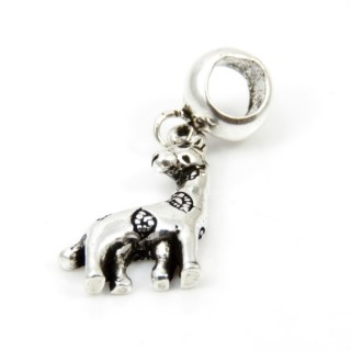 32627 STERLING SILVER CHARM FOR BRACELET. SIZE: 29 X 12 MM