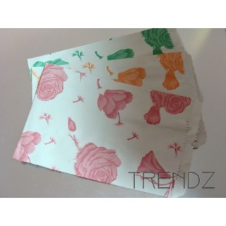 FL16 100 PAPER ENVELOPES FLOWER PRINT 13 X 20 CM
