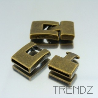 17988 BRONCE PACK OF 5 FASHION T BAR CLASPS