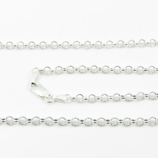 39246 ROLO 3 VUOTA 40 CMS STERLING SILVER CHAIN