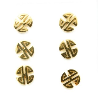 31203-21 PACK OF 3 PAIRS OF GOLDEN STAINLESS STEEL EARRINGS
