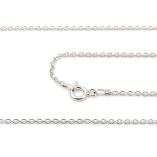39257 FORZA 40 ND RODIO 45 CMS STERLING SILVER CHAIN
