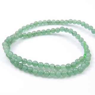 40753 STRING OF 90 BEADS OF 4 MM GREEN AVENTURINE