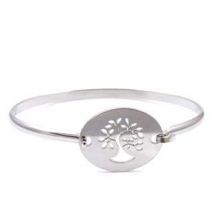 32311-05 STAINLESS STEEL BRACELET WITH CHARM