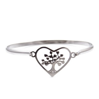 32311-21 STAINLESS STEEL BRACELET WITH CHARM