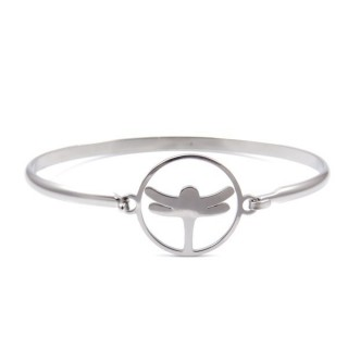 32311-23 STAINLESS STEEL BRACELET WITH CHARM