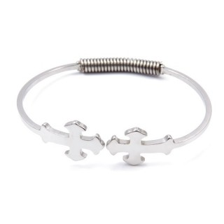 32313-04 STAINLESS STEEL BRACELET WITH SPRING