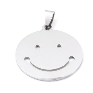 32975-21 STAINLESS STEEL 31 MM SMILE PENDANT