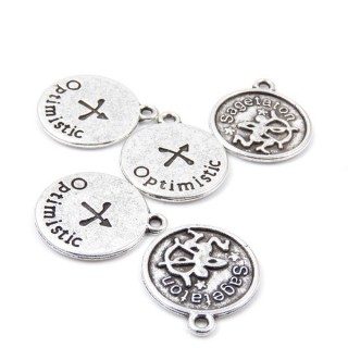 31871-39 PACK OF 10 FASHION JEWELRY 18 MM HOROSCOPE CHARMS