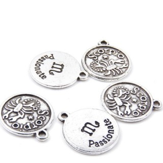 31871-43 PACK OF 10 FASHION JEWELRY 18 MM HOROSCOPE CHARMS