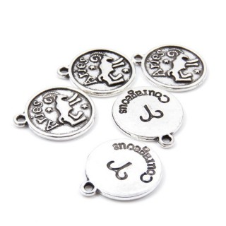 31871-44 PACK OF 10 FASHION JEWELRY 18 MM HOROSCOPE CHARMS