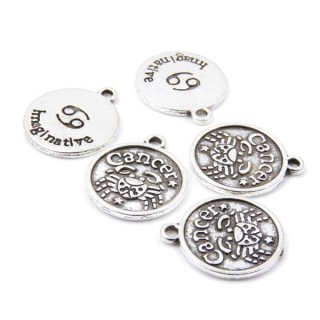 31871-45 PACK OF 10 FASHION JEWELRY 18 MM HOROSCOPE CHARMS
