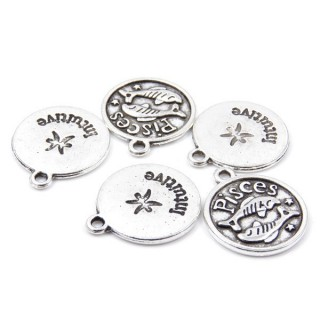 31871-46 PACK OF 10 FASHION JEWELRY 18 MM HOROSCOPE CHARMS