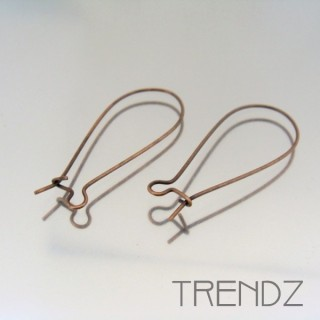 18067 COBRE PACK OF 20 PAIRS OF EARRING HOOKS