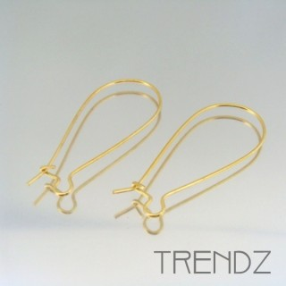 18067 ORO PACK OF 20 PAIRS OF EARRING HOOKS