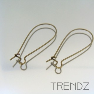 18067 BRONCE PACK OF 20 PAIRS OF EARRING HOOKS