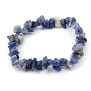 32994-07 ELASTIC NATURAL STONE CHIP BRACELET IN SODALITE