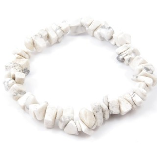 32994-21 ELASTIC NATURAL STONE CHIP BRACELET IN HOWLITE