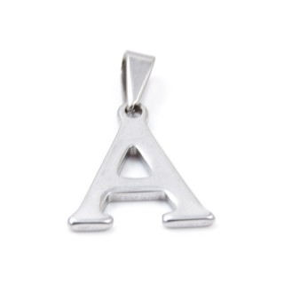 33392-01 LETTER SHAPED STAINLESS STEEL PENDANT APPROXIMATELY 20 MM