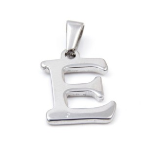 33392-05 LETTER SHAPED STAINLESS STEEL PENDANT APPROXIMATELY 20 MM