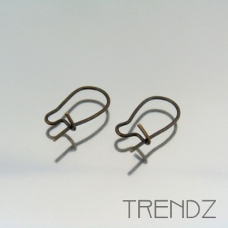 18064 BRONCE PACK OF 32 PAIRS OF EARRING HOOKS