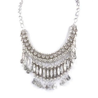 32971-21 METAL FASHION NECKLACE WITH OR WITHOUT EARRINGS