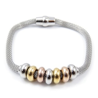 36919 LADIES STAINLESS STEEL BRACELET WITH MAGNETIC CLASP