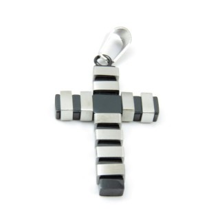 33641 STAINLESS STEEL 43 X 26 MM CROSS PENDANT
