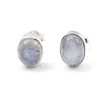 32931-01 STERLING SILVER 10 X 8 MM POST EARRING WITH MOONSTONE