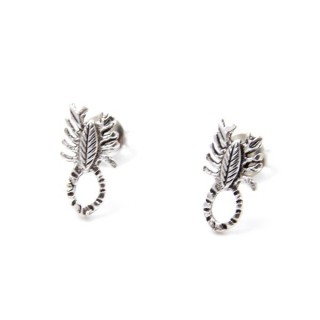 32940-10 SCORPION SHAPED 11 X 6 MM STERLING SILVER EARRINGS