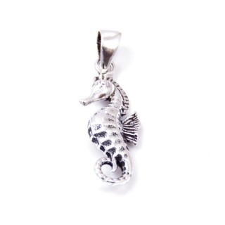33979 SEA HORSE 22 X 8 MM STERLING SILVER PENDANT