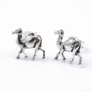 34096 STERLING SILVER EARRINGS CAMEL SHAPED 11 X 10 MM