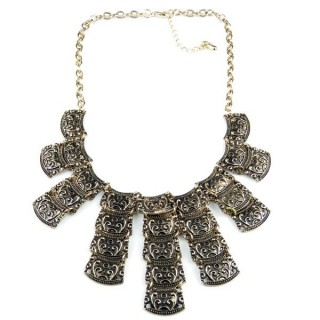 32374-25 METAL FASHION NECKLACE WITH OR WITHOUT EARRINGS