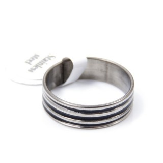 33729 PACK OF 12 STAINLESS STEEL RINGS IN ASSORTED SIZES