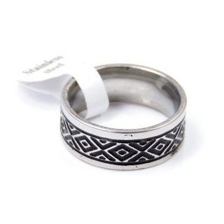 33735 PACK OF 12 STAINLESS STEEL RINGS IN ASSORTED SIZES