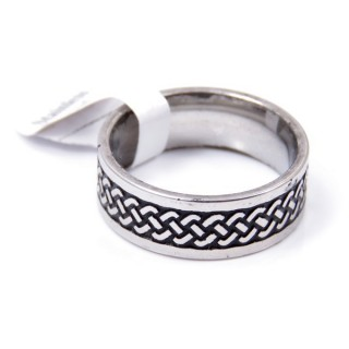 33736 PACK OF 12 STAINLESS STEEL RINGS IN ASSORTED SIZES