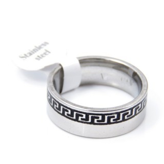 33737 PACK OF 12 STAINLESS STEEL RINGS IN ASSORTED SIZES