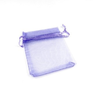 31794-01 PACK OF 100 7 X 9 CM ORGANZA BAGS IN LILAC