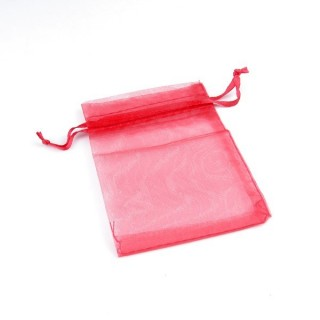 31794-04 PACK OF 100 7 X 9 CM ORGANZA BAGS IN RED