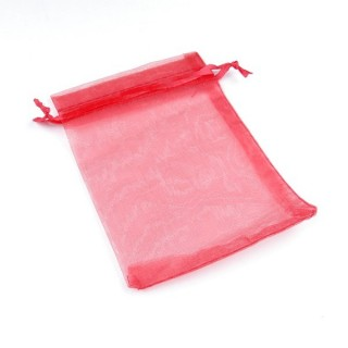 31795-04 PACK OF 100 9 X 12 CM ORGANZA BAGS IN RED