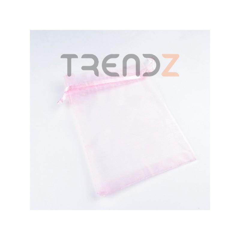 31795-05 PACK OF 100 9 X 12 CM ORGANZA BAGS IN PINK